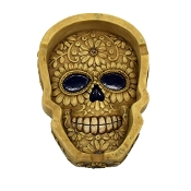 8ct. Floral Skull Style  Ashtray