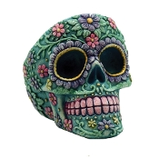 6ct. Floral Skull Style  Ashtray