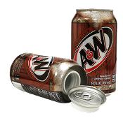 A&W Rootbeer can safe can