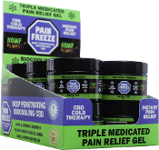 Hemp Bombs Pain Freeze Gel 1oz 50mg Dispay 12ct