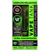 Hemp Bombs Glazed Chocolate Donut Vape Tank 1ml 125mg