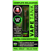 Hemp Bombs Farm Fresh Strawberry Milk Vape Tank 125mg 1ml