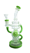 10 Inch Green Recycler Water Pipe
