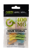 Good CBD Sour Worms Display 400mg 10/10ct