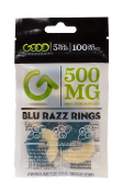 Good CBD Blue Razz Rings Display 500mg 10/10ct