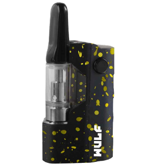 Wulf Micro Plus Vape Kit Black/Yellow Spatter
