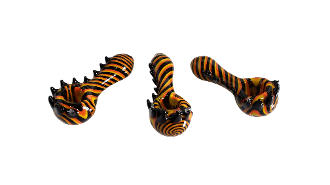 2.5 Inch Tiger Stripe Glass Pipe