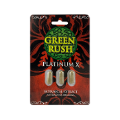 Green Rush Gold Kratom Capsules 3ct