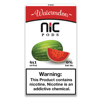 NiC Pods Watermelon 4pk