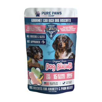 Pure Paws CBD Dog Treats 150mg 15ct