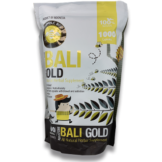 Bumble Bee Kratom Capsules Bag Bali Gold 1000ct