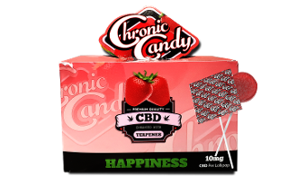 Chronic Candy CBD Lollipops Strawberry 600mg 60ct