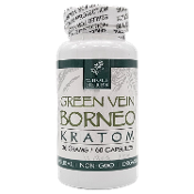 Whole Herbs Kratom Capsules Bottle Green Vein Borneo 30 Grams 60