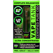 Hemp Bombs CBD Artic Spearmint Blast Vape Tank 1ml 125mg