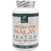 Whole Herbs Kratom Capsules Bottle Green Vein Malay 125 Grams 25