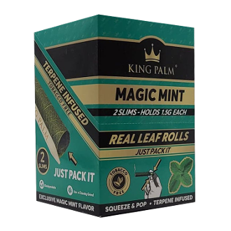 King Palm Magic Mint 2 Slim Rolls Display 20/2