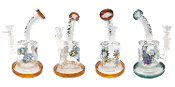 7 Inch Bent Neck Rick and Morty Water Pipe