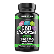 Hemp Boms CBD Gummies Bottle 1500mg 100ct.
